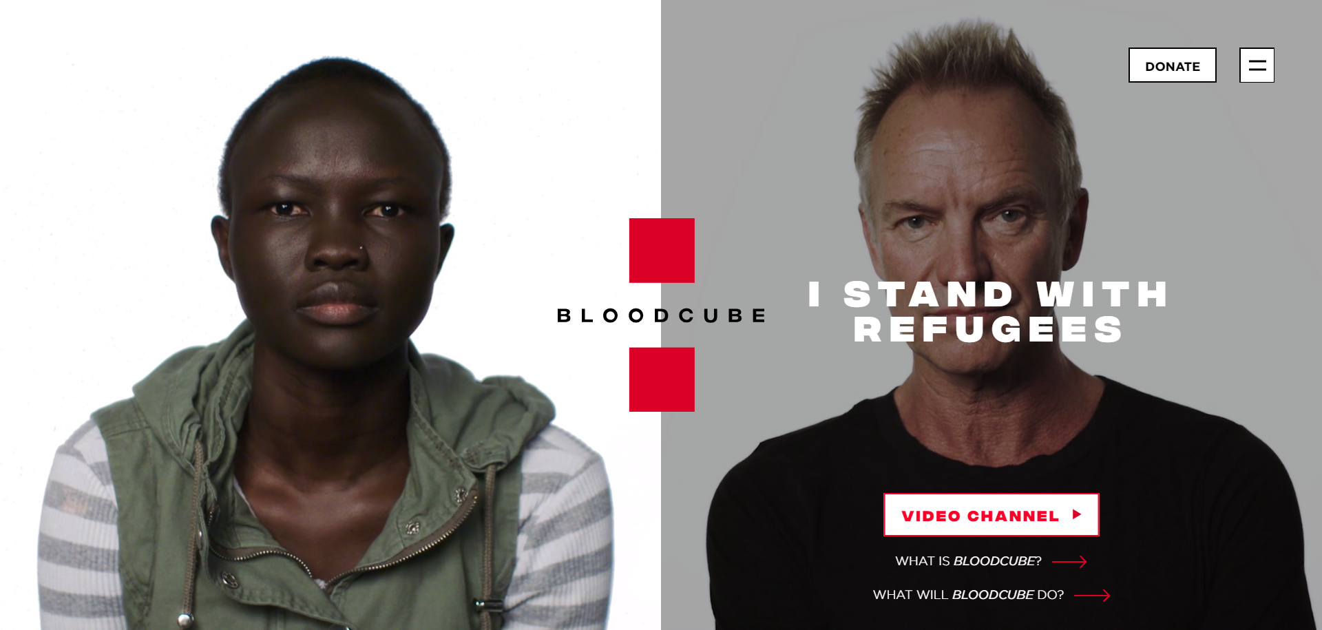 Bloodcube charity visibility project